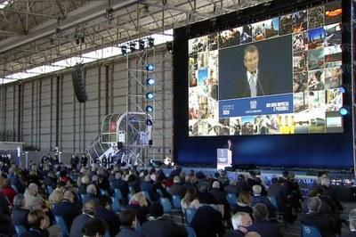 Assemblea Generale 2020 - Il Presidente di Assolombarda, Alessandro Spada, al podio